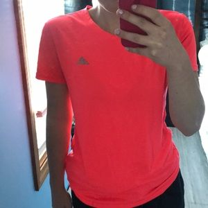 women's adidas workout tshirt : neon